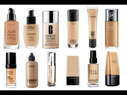 Assortment of liquid foundations